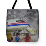Interam Airlines Flight One Clearwater Florida To Bristol England Tote Bag