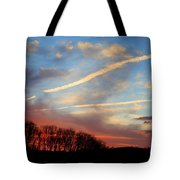 Interesting Sunset Tote Bag