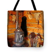 Interior Cabin At Old Trail Town Tote Bag