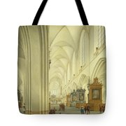Interior Of Antwerp Cathedral, C.1668 Tote Bag