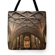 Interior Of Jeronimos Monastery Church In Lisbon Tote Bag