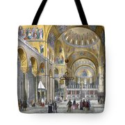 Interior Of San Marco Basilica, Looking Tote Bag by Italian School