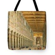 Interior Of San Paolo Fuori Le Mura Tote Bag