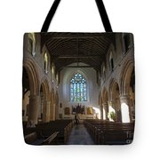 Interior Of St Mary's Church In Rye Tote Bag