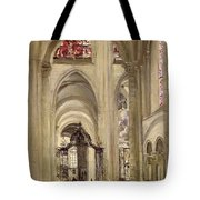 Interior Of The Cathedral Of St. Etienne, Sens Tote Bag
