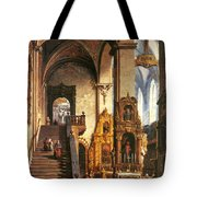 Interior Of The Dominican Church In Krakow Tote Bag
