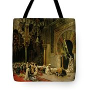 Interior Of The Mosque At Cordoba Tote Bag by Edwin Lord Weeks