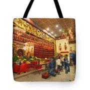 Interior Of Thien Hau Temple A Taoist Temple In Chinatown Of Los Angeles Tote Bag