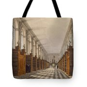 Interior Of Trinity College Library Tote Bag