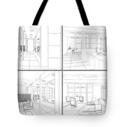 Interior Office Rooms Tote Bag