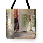 Interior Oil On Canvas Tote Bag