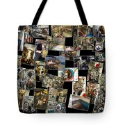 Interior Russian Submarine Horz Collage Tote Bag
