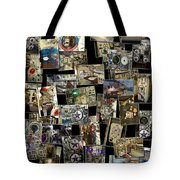 Interior Russian Submarine Vert Collage Tote Bag