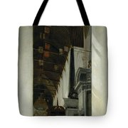 Interior View Of The New Church In Delft Tote Bag