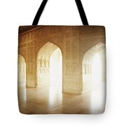 Interiors Of A Hall, Agra Fort, Agra, Uttar Pradesh, India Tote Bag