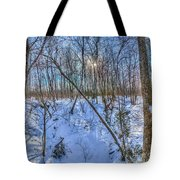 Intersecting Snow Streams Tote Bag