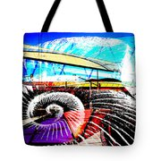 Interstate 10- Cushing St Overpass- Rectangle Remix Tote Bag