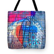 Interstate 10- Exit 255- Miracle Mile Overpass- Rectangle Remix Tote Bag