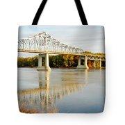 Interstate Bridge In Winona Tote Bag