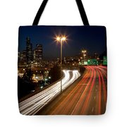 Interstate Traffic In Seattle Washington Tote Bag