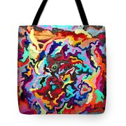 Intertwined Rainbow Tote Bag