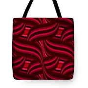 Intertwined Red Abstract Tote Bag