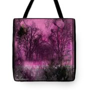 Into A Dark Pink Forest Tote Bag