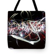 Into Chaos One Last Time...light Painting Tote Bag