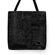 Into Nyc White On Black Tote Bag