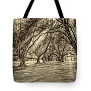 Into The Deep South - Paint 2 Sepia Tote Bag