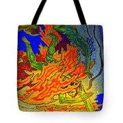 Into The Flames Of Hell Tote Bag