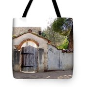 Into The Light, Mission San Miguel Archangel, California Tote Bag