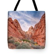 Into Valley Of Fire Tote Bag
