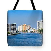 Intracoastal Waterway In Hollywood Florida Tote Bag