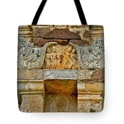 Intricate Carving At Wat Mahathat In 13th Century Sukhothai Hist Tote Bag