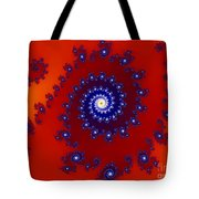 Intricate Red Blue Fractal Based On Julia Set Tote Bag