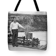 Inventor Of First Snowmobile Tote Bag