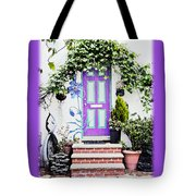 Invitation Greeting Card - Street Garden Tote Bag