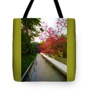 Inviting Garden Alley Tote Bag