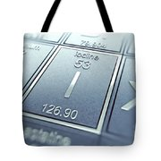 Iodine Chemical Element Tote Bag