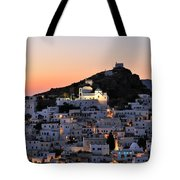 Ios Town During Sunset Tote Bag