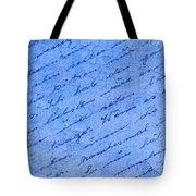 Iphone Case Blue Handwriging Tote Bag