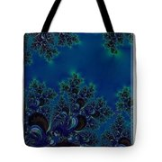 Iphone Case  Midnight Blue Frost Crystals Fractal Tote Bag