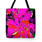 Iphone Cases Colorful Flowers Large Pink Roses Carnations Abstract Florals Carole Spandau Cbs Art185 Tote Bag by Carole Spandau