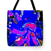 Iphone Cases Colorful Flowers The Blue Dahlia Abstract Floral Art Carole Spandau Cbs Exclusives 184 Tote Bag