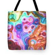 Iphone Colorful Abstract Tote Bag