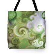 Iphone Green Swirl Abstract Tote Bag