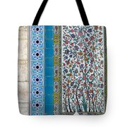 Iran Shiraz Tile And Fountain Tote Bag