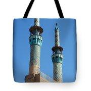 Iran Yazd Mosque Spires  Tote Bag