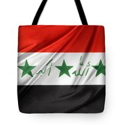 Iraq Flag Tote Bag by Les Cunliffe